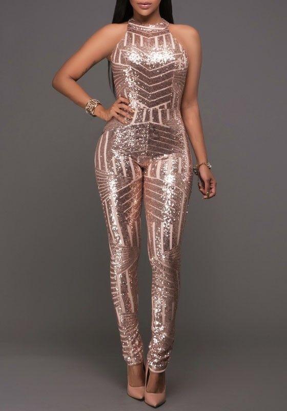 Best 25  Sparkly jumpsuit ideas only on Pinterest   Gold jumpsuits ...