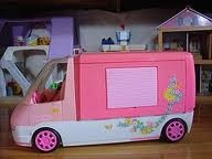 Almost identical to the barbie camper van Santa bought me when I was about 5