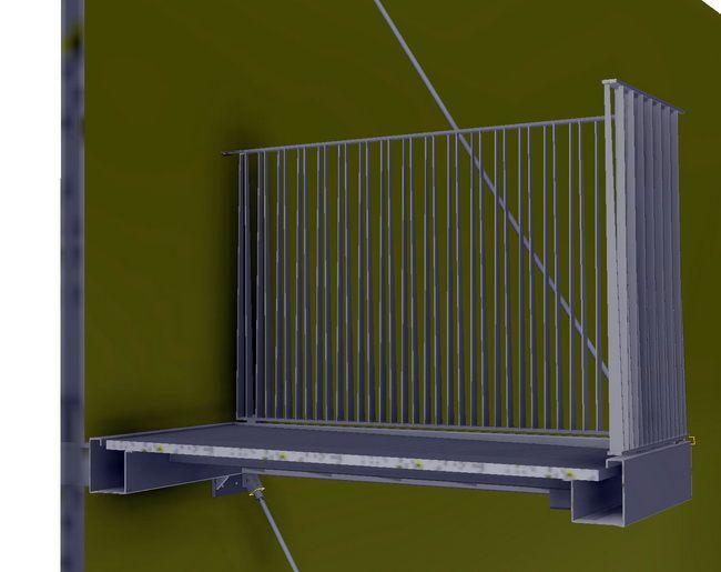 Balkone Mit Zugstange Und Gelaender Verzinkt 05 Balkon
