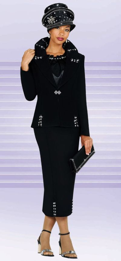 women's church suits | Womens Church Suits BenMarc 3pc Embellished Suit 4423 image