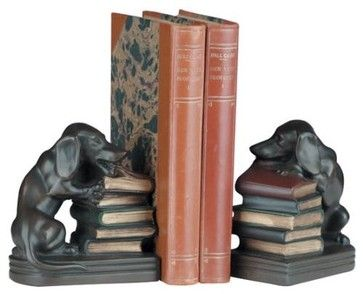 Bookends Bookend Chewing Dachshund traditional-bookends