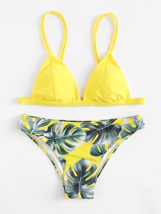 30424d313a2c8 cali-chic-womens-swimsuit-celebrity-padded-jungle-leaf-print-bikini-yellow