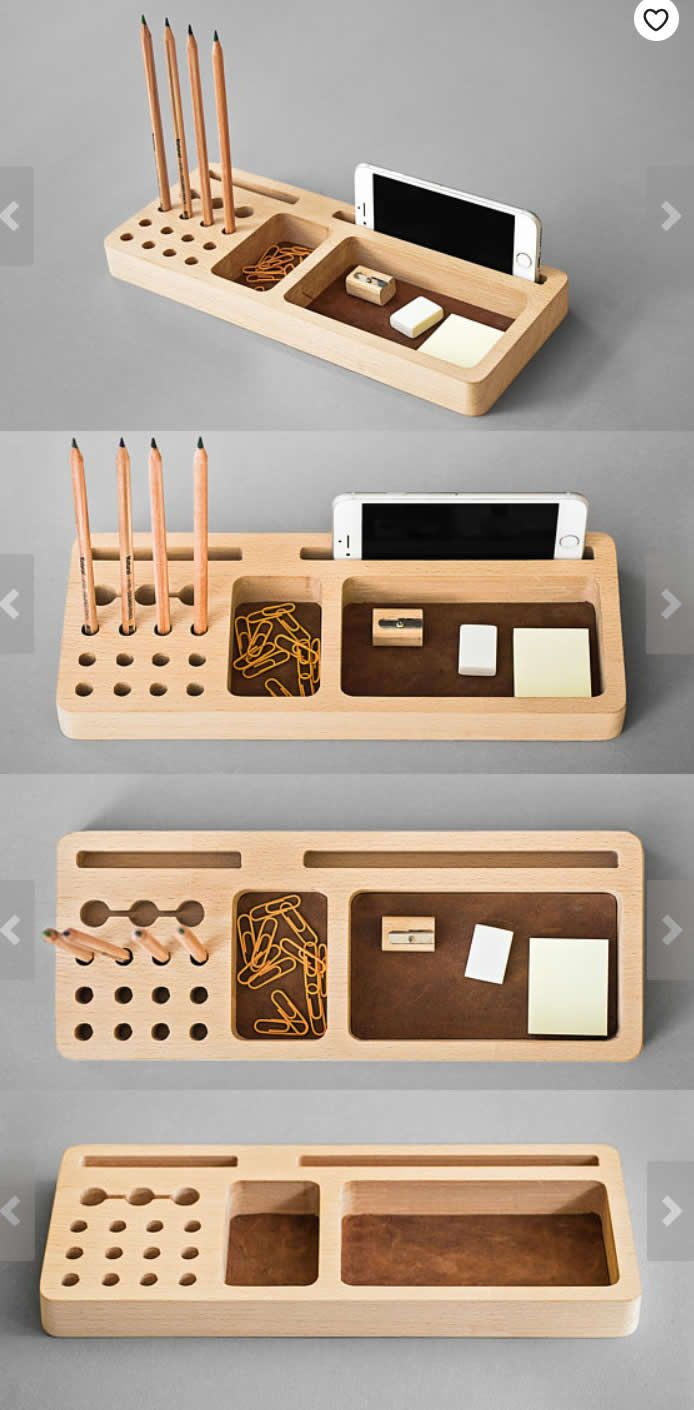 Wooden Wood Office Desk Organizer Pen Pencil Holder Stand Smart Phone Mobile Phone Iphone Dock Stand Holde Wood Storage Box Wooden Desk Organizer Wood Storage