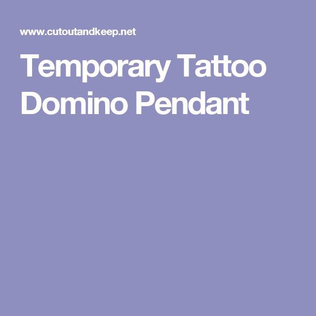 Temporary Tattoo Domino Pendant