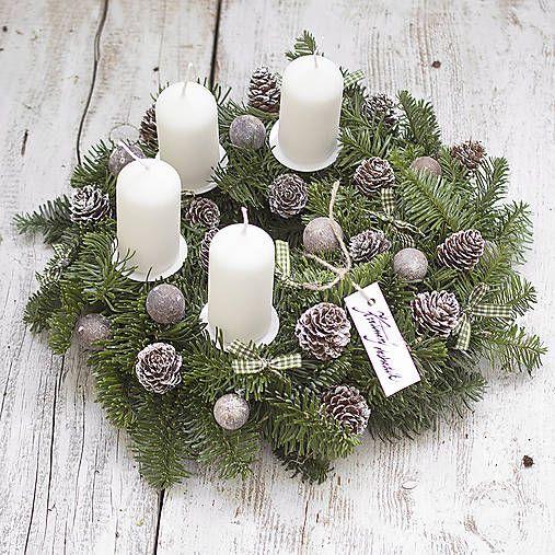 KvetinovyObchodik / Adventný veniec Biele Vianoce