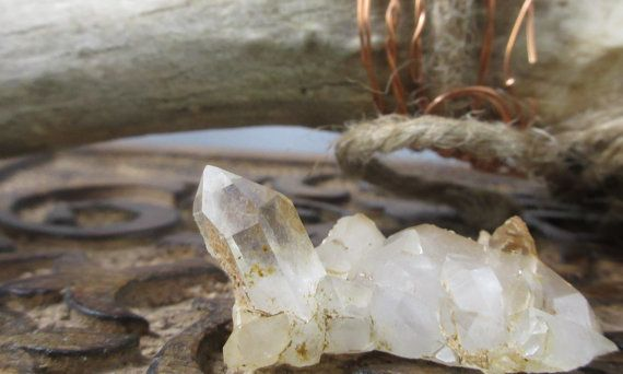 clear quartz crystal cluster, FREE SHIPPING, rocks and minerals, natural home decor, whimsical wedding decor, fairy garden