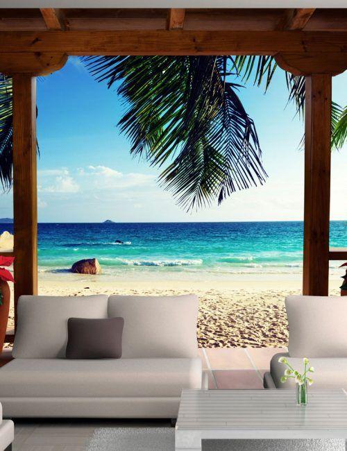 Carta da Parati Relax sulla Spiaggia Carta da Parati Fotomurale Tema Paesaggi