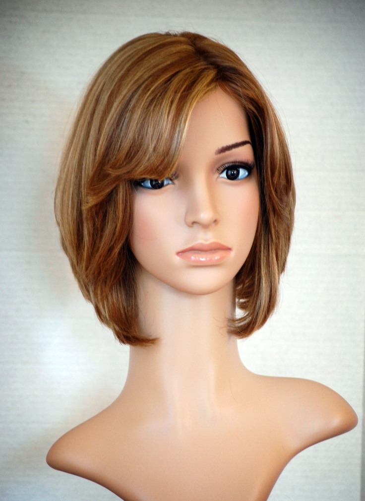 Brown Bob Wig With Highlights