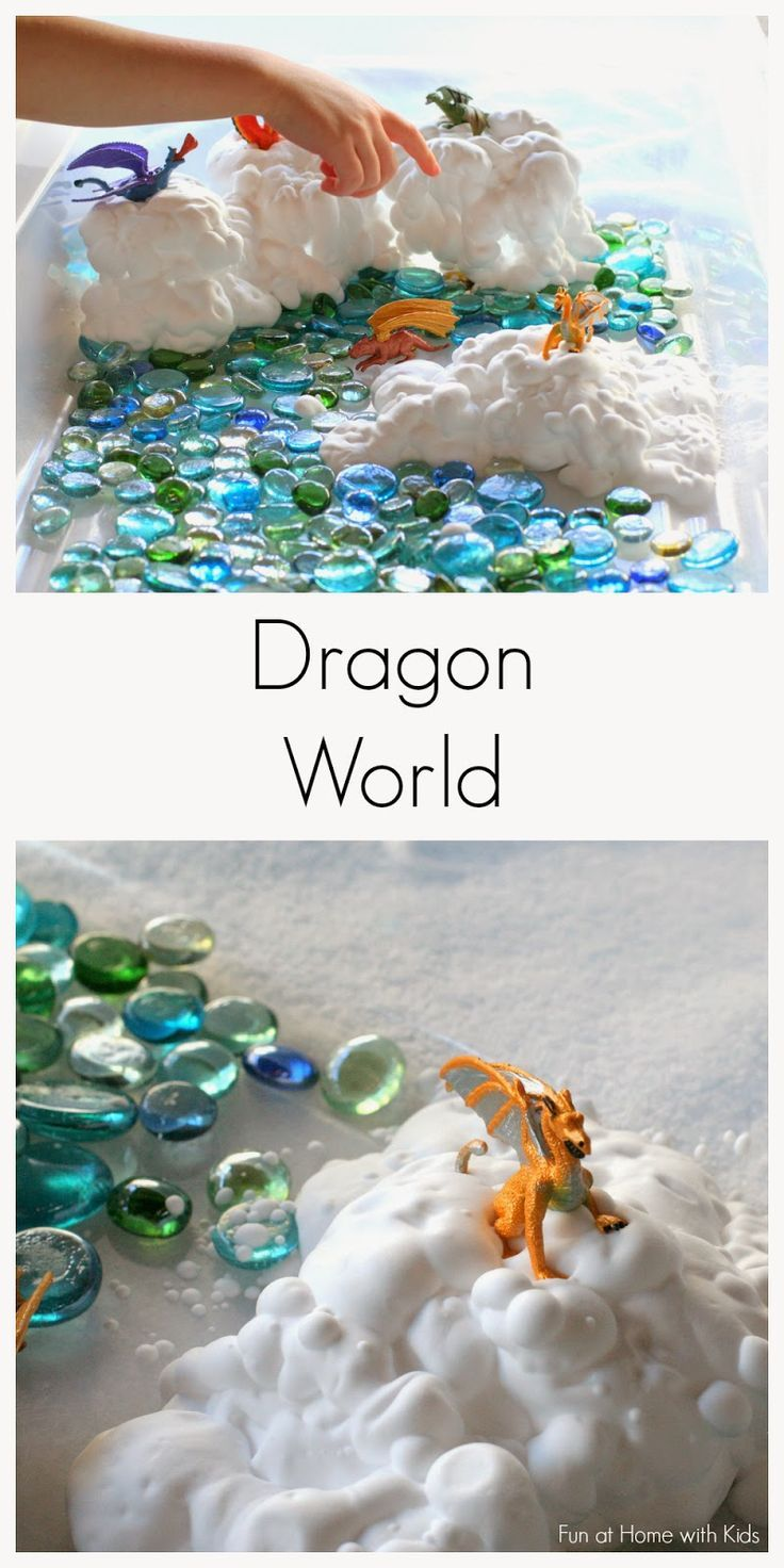 Simple Small Worlds:  Dragon World from Fun at Home with Kids