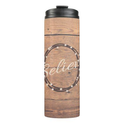 Believe Thermal Tumbler - Xmas ChristmasEve Christmas Eve Christmas merry xmas family kids gifts holidays Santa
