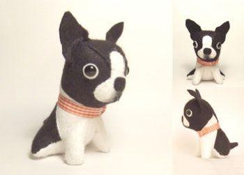 boston terrier dog toy