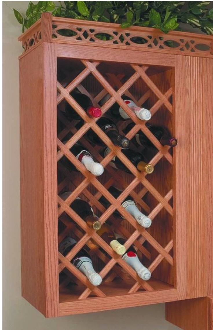 Wood Wine Rack Lattice Woodworking Projects Amp Plans