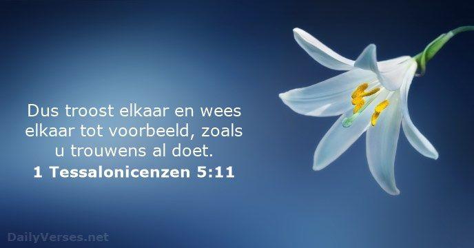 1 Tessalonicenzen 5:11 - dailyverses.net