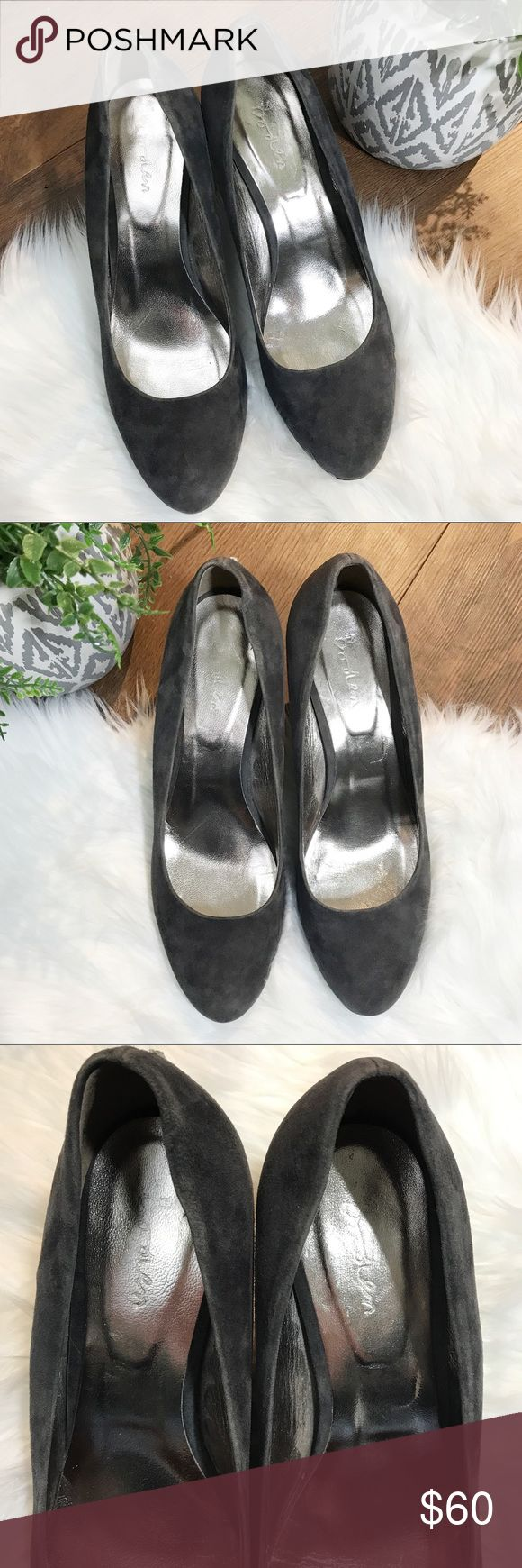 """BODEN gray suede heels size 41 EUC Excellent used condition gorgeous gray suede heels from BODEN. Size 41 but runs small, please be familiar with BODEN sizing & see size chart in pictures. Minor wear to soles as pictured otherwise without flaws. 2.5"""" heel. Boden Shoes Heels"""