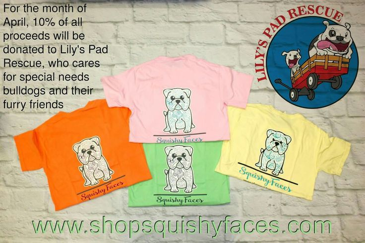 Your legging or t shirt purchase helps give 10% to this bulldog rescue group this month!