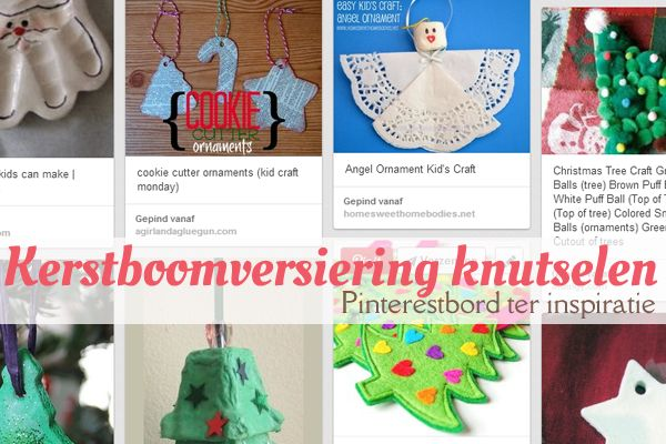Kerstboomversiering knutselen