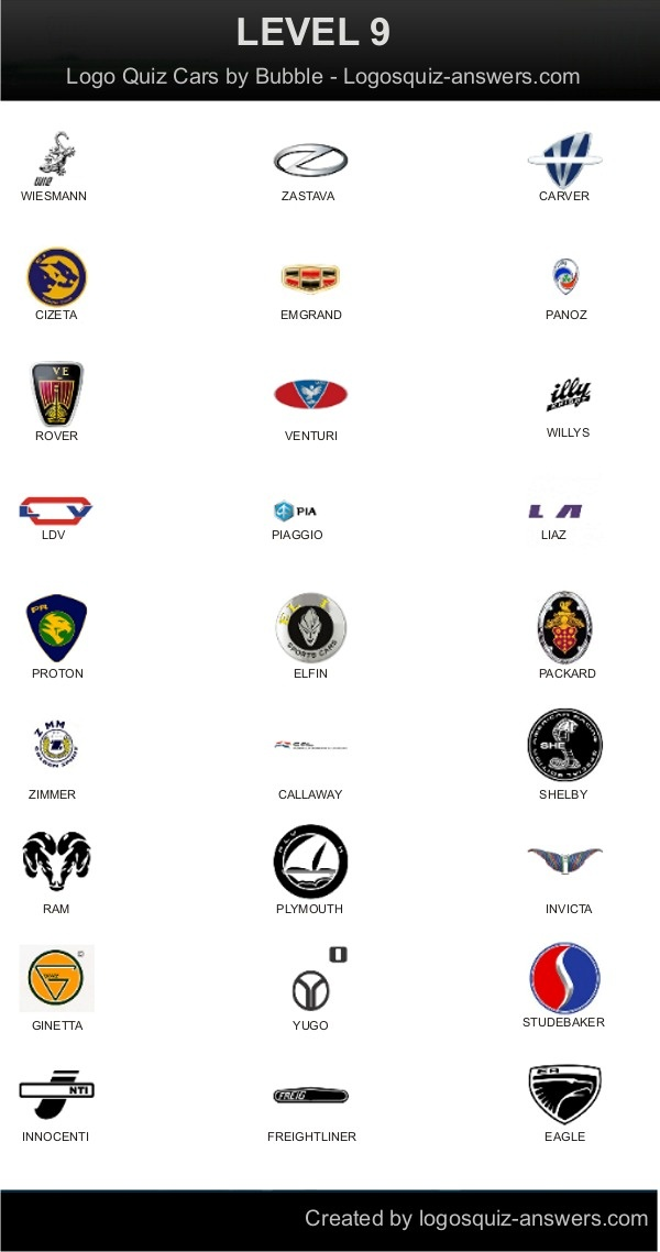 10 best logo quiz cars answers images on pinterest
