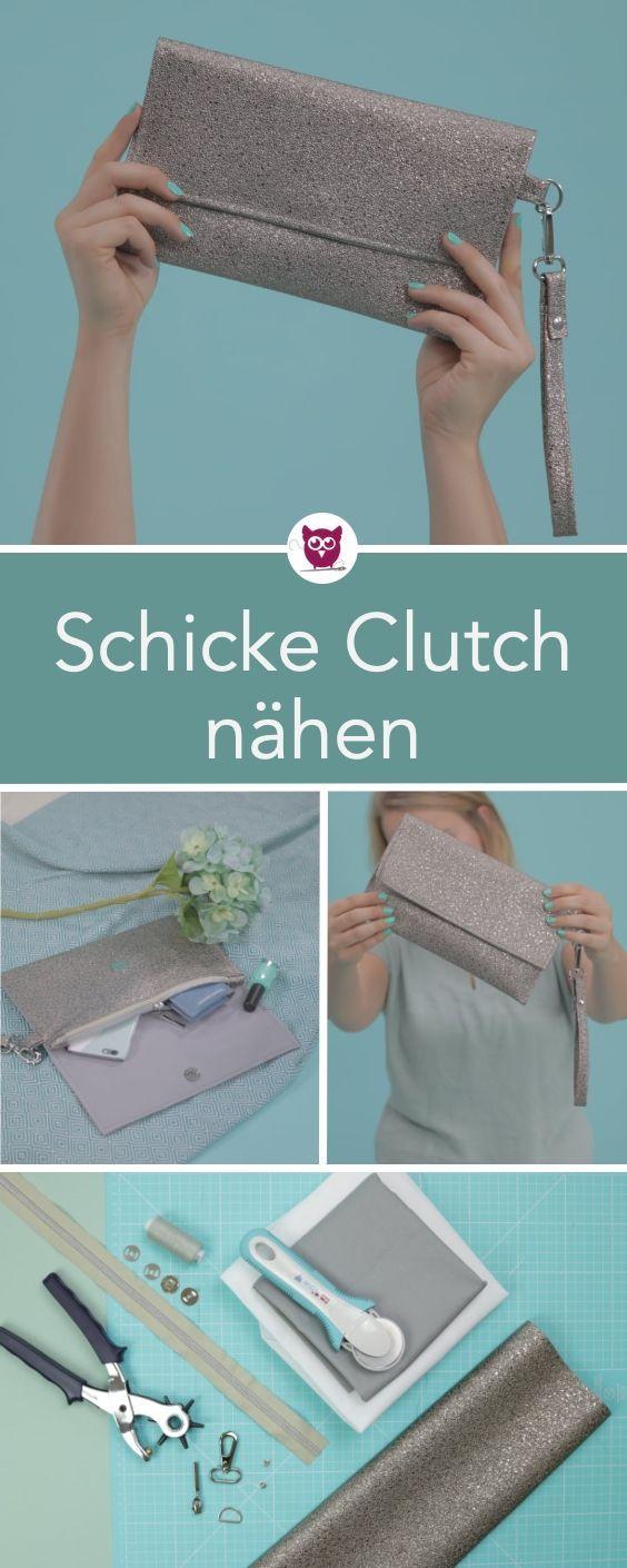 #ClutchClara von #DIYeuleBuch: Nähanleitung für eine schicke und einfache Kupplung mit Riemen und