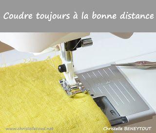 Christelle Beneytout : le blog: Coudre à la bonne distance et coudre droit