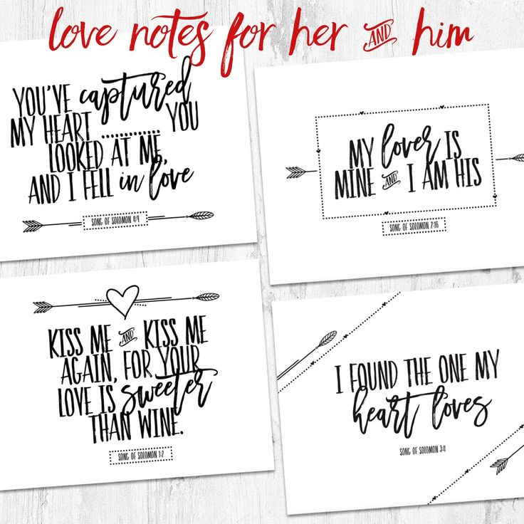 Sweet love notes for him