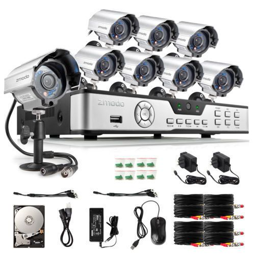 Zmodo 8 Channel 960H HDMI DVR 700TVL IR Outdoor Security Camera System 1TB HDD #Zmodo