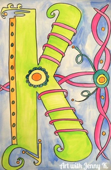 Great celtic initial kids project from Jenny K #ArtinSweden #CiArt