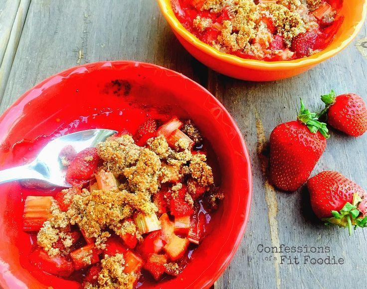 21 Day Fix Strawberry & Rhubarb Crisp