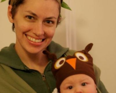 This homemade owl beanie is so cute, I had to share. Not only is it a simple sewing project, similar to the make a baby hat out of a tshirt post I did a few years ago, but the whole Owl in a Tree is a clever mom and baby costume idea. The mom behind this project is the author of the blog Humpty...
