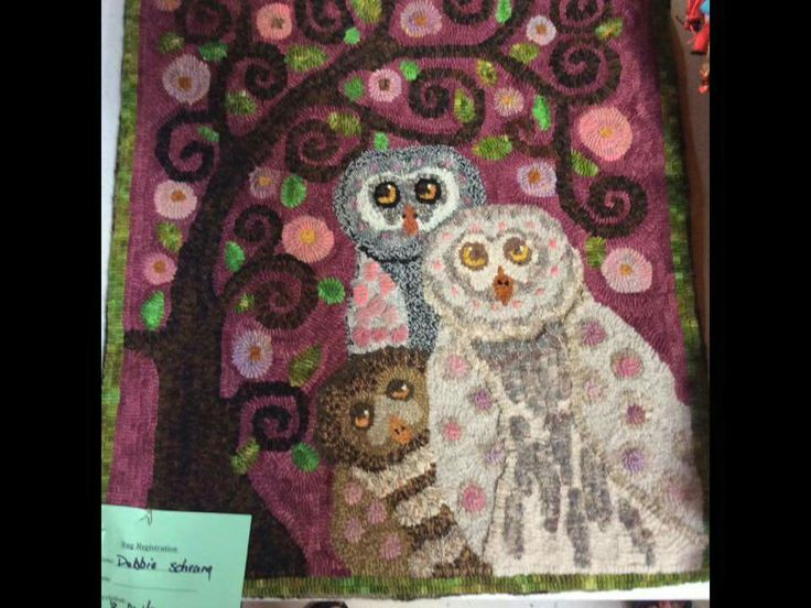 Love This Rug Hooking Pinterest Punch Needle Owl