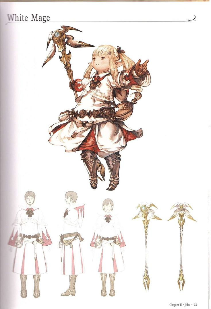 White mage concept art from final fantasy xiv triangle composition balance dominance