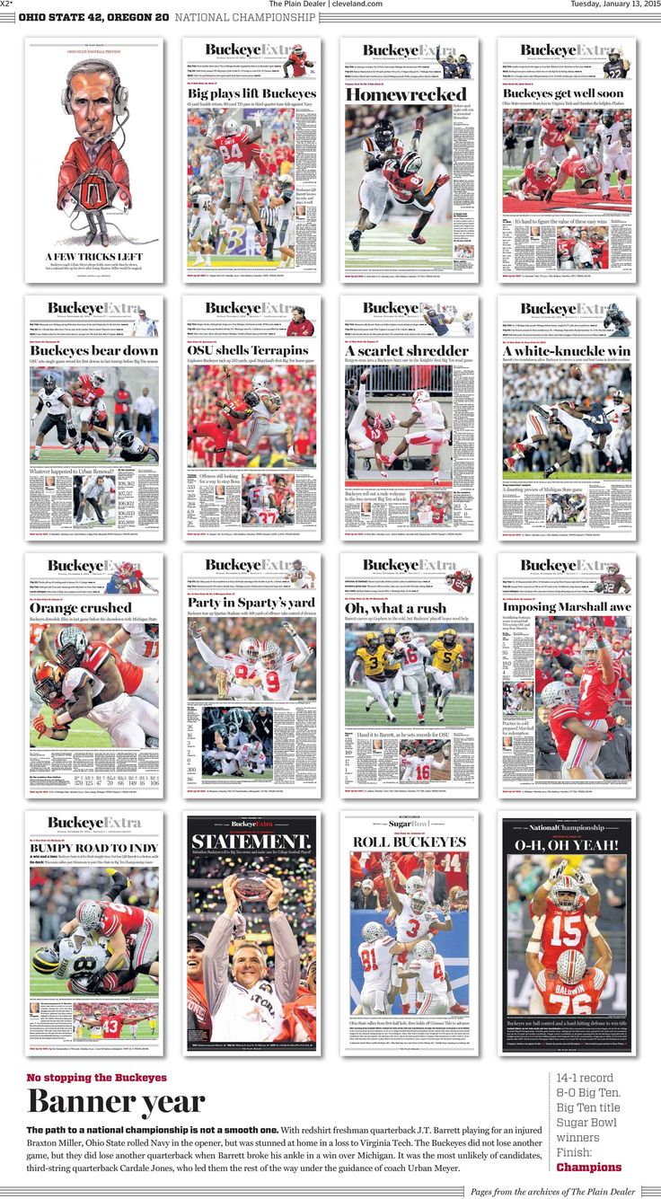 The best Ohio State national championship newspaper front pages - Land-Grant Holy Land