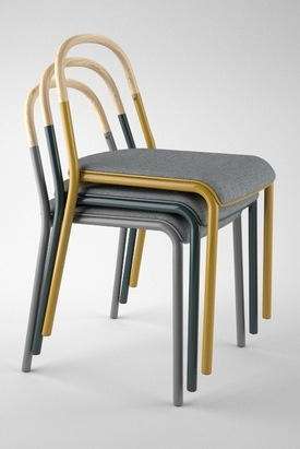 simple stackable chair bistro by jacob nitz