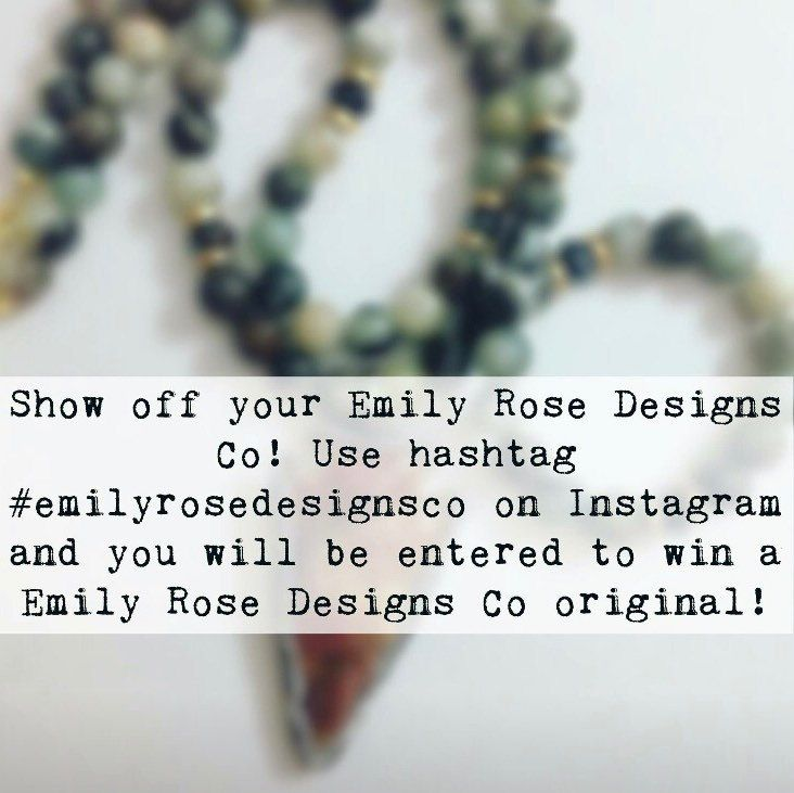 Enter to win an original Emily Rose Designs Co piece! Show how you wear Emily Rose Designs Co and tag us on Instagram to be entered to win!