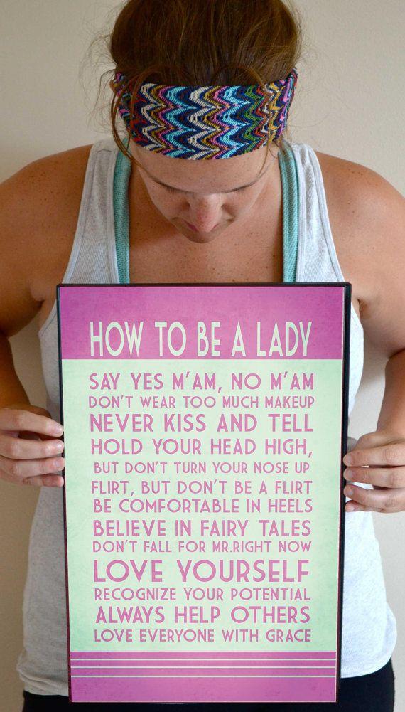 Girl Nursery Art Print How to be a lady by SmartyPantsStudio, $24.00