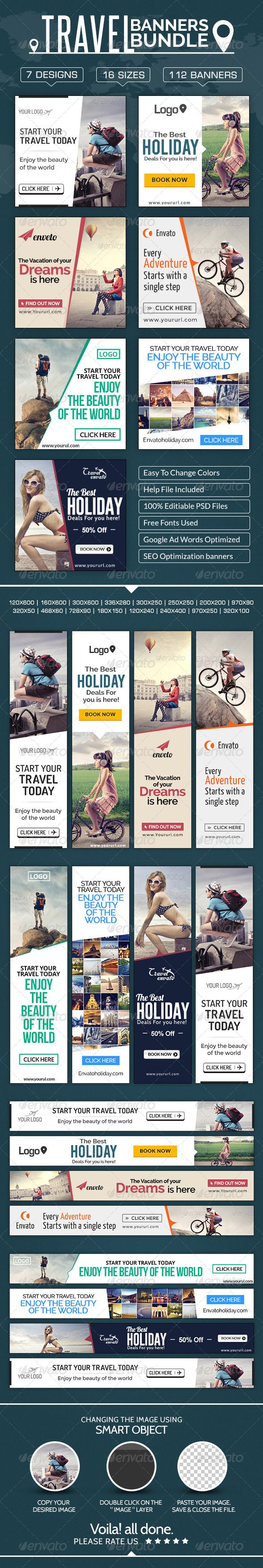 Travel Banners Mega Bundle - 7 sets Template PSD | Buy and Download: http://graphicriver.net/item/travel-banners-mega-bundle-7-sets/8603590?WT.ac=category_thumb&WT.z_author=doto&ref=ksioks