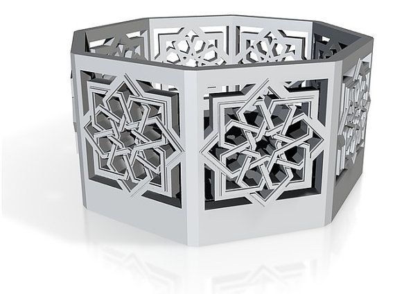 My new Islamic Star Knot lantern. Etsy listing at https://www.etsy.com/listing/189377168/islamic-star-lantern-original-tee-light