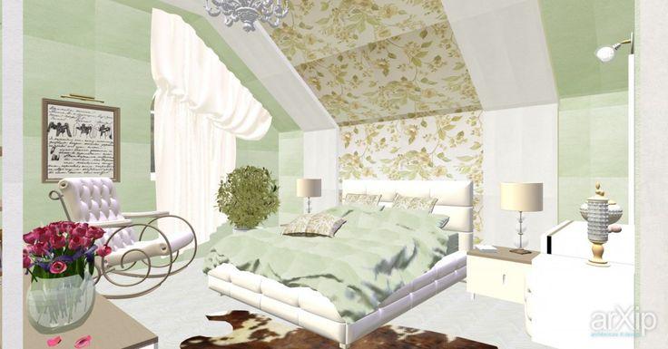 Спальня в мансарде.: интерьер, зd визуализация, квартира, дом, спальня, эклектика, 10 - 20 м2, интерьер #interiordesign #3dvisualization #apartment #house #bedroom #dormitory #bedchamber #dorm #roost #eclectic #10_20m2 #interior
