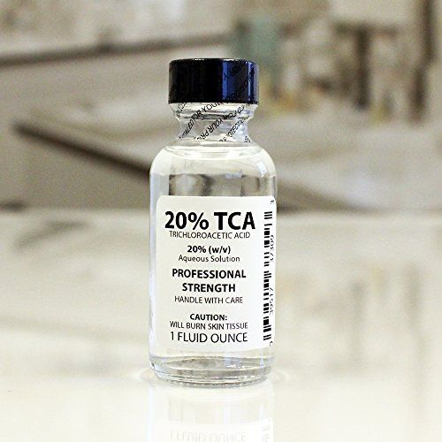 Trichloroacetic Acid Solution TCA 20% Chemical Skin Peel (1 Ounce) Erlenmeyer's Laboratory, LLC http://www.amazon.com/dp/B00BKOI1SI/ref=cm_sw_r_pi_dp_nLINub0SRYKAB