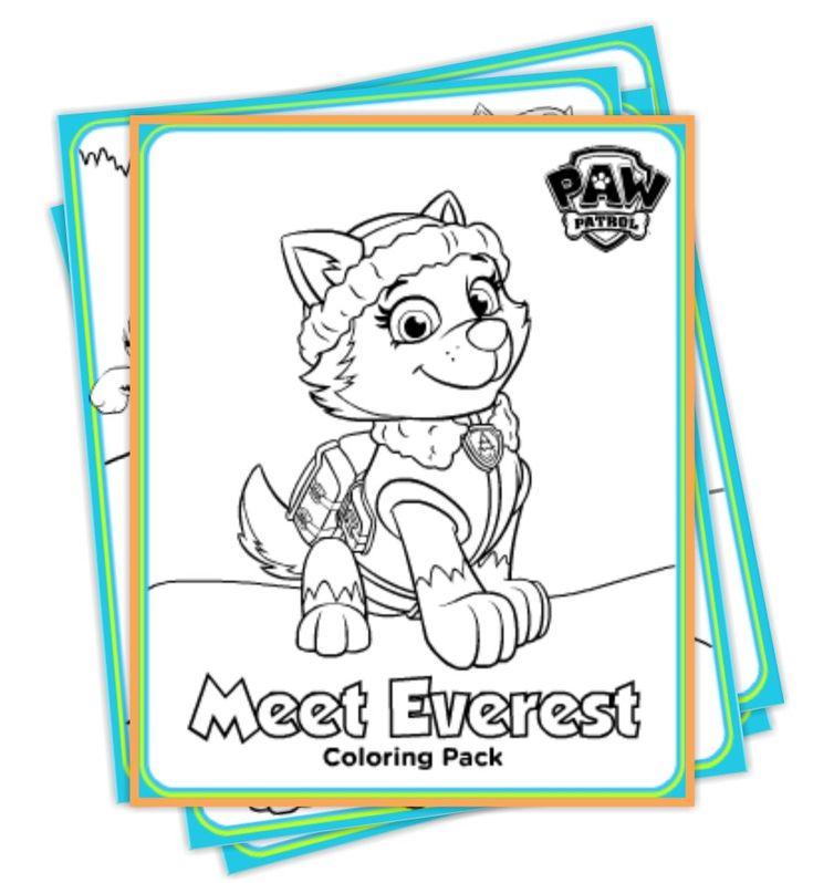 Paw Patrol Coloring Pages Free Everest : Paw patrol everest coloring pages http
