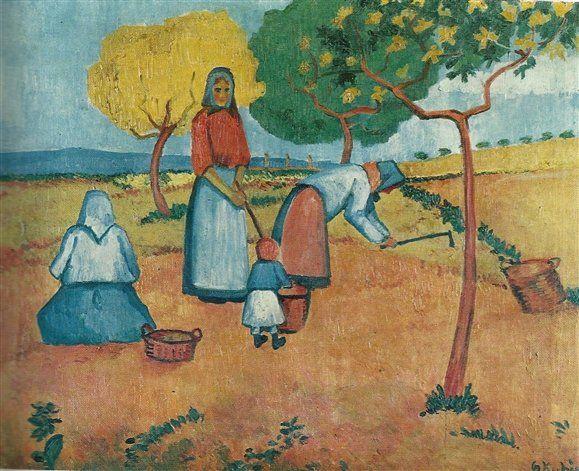 Otakar Kubín - Vybírání brambor