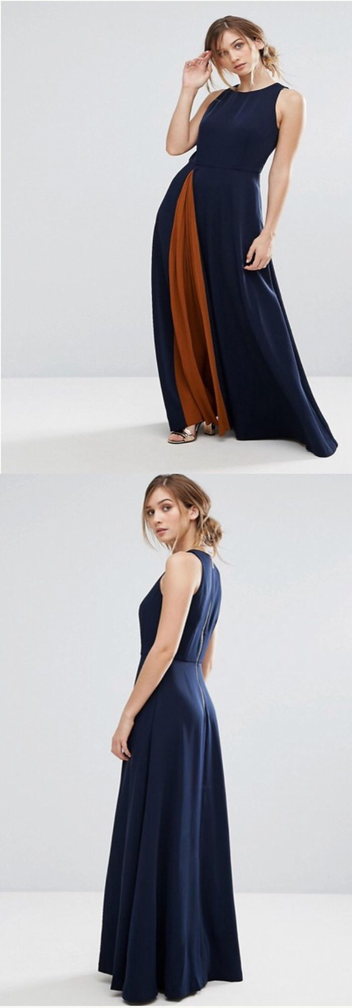 Contemporary Style Ted Baker contrast Pleat  Maxi Dress, stylish and fashionable evening gown inspiration for stylish women #ad #affiliatelink #tedbaker #eveninggown #stylish #longdress #pleated #maxi