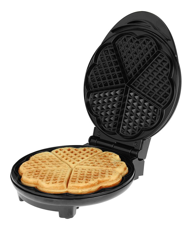 Kalorik Heart Waffle Maker   Nothing brings the family to the breakfast table quite like fresh waffles. This waffle maker produces delicious, adorably shaped treats that are evenly cooked and won't stick to the pan.