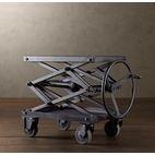 Industrial Scissor Lift Table - eclectic - bar carts - Restoration Hardware