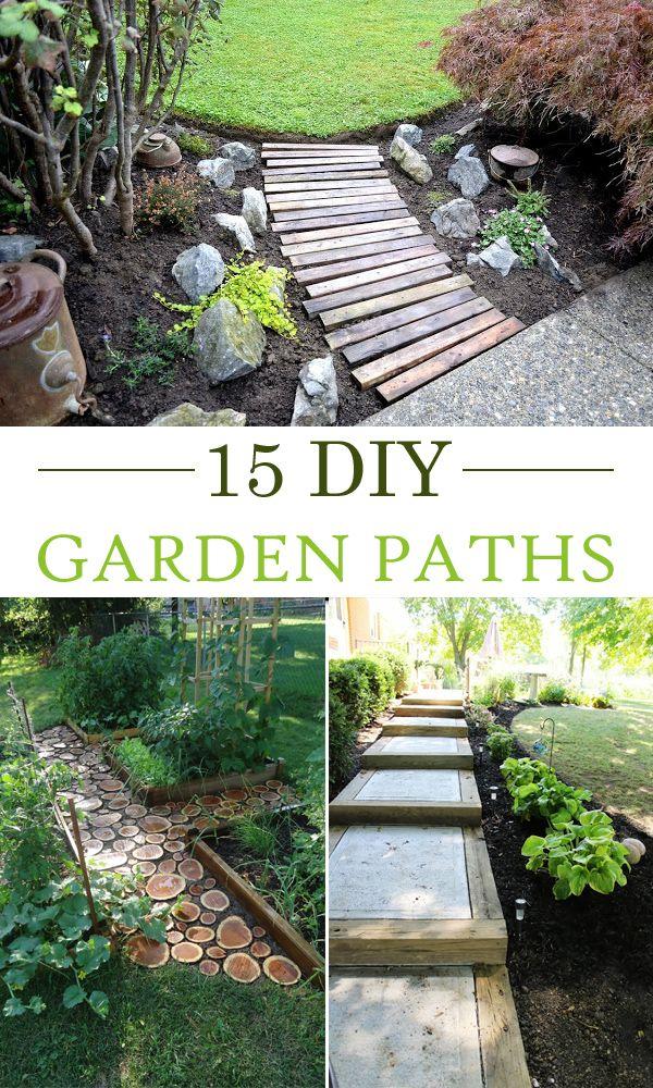 15 creative diy garden path ideas gardens creative and for Diy garden path designs