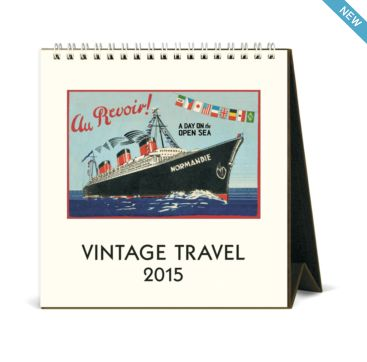 Vintage travel calendar 2015 from Cavallini & Co. #Bobangles #CavalliniPapers #vintage #travel #calendar #design #Australia