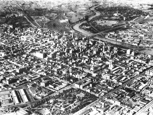 MELBOURNE, you've come a long way, as these historic aerial images show.