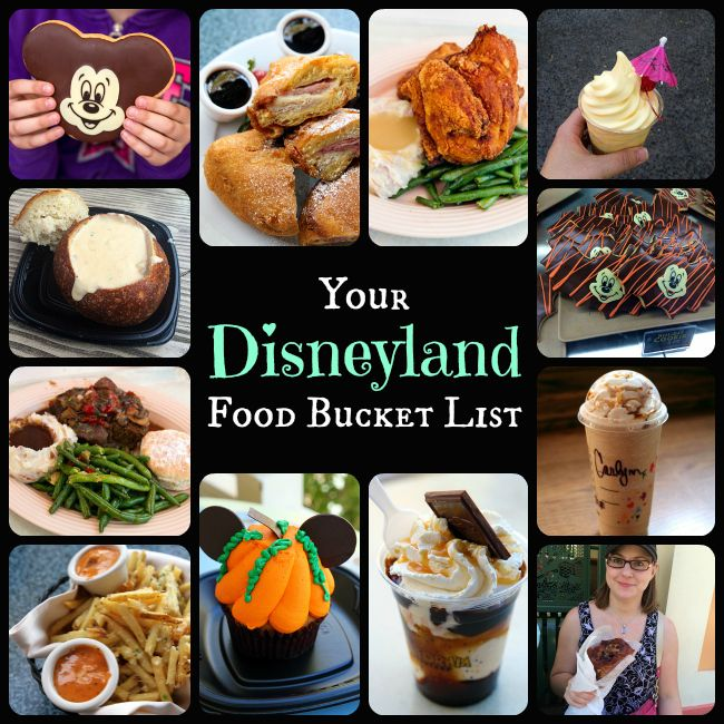 ** PRINTABLE FOOD BUCKET LIST!** I've made the ultimate list for #Disney lovers for the best food at Disneyland that you absolutely have to try! Print it and take it with you! Happy Disney-ing! from @kitchenmagpie