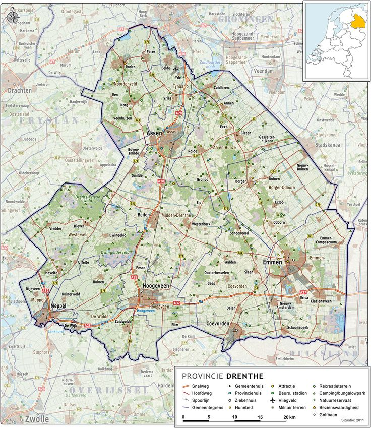 Drenth, Netherlands map