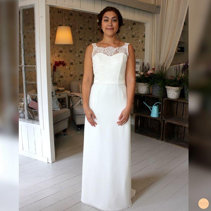 bridal hair updo and wedding dress