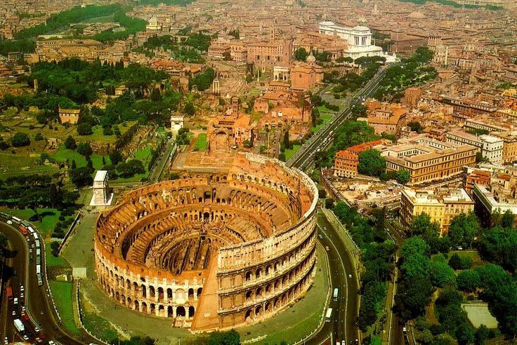 Colosseum and Forum